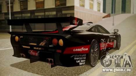 McLaren F1 GTR 1998 Day Off pour GTA San Andreas laissé vue