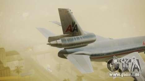 DC-10-10 American Airlines Luxury Liner pour GTA San Andreas sur la vue arrière gauche