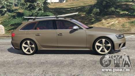 GTA 5 Audi RS4 Avant 2013 vue latérale gauche