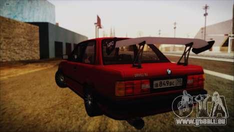BMW M3 E30 Coupe Drift pour GTA San Andreas laissé vue