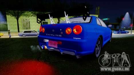 Nissan Skyline GT-R ESR Drift Tuning für GTA San Andreas rechten Ansicht