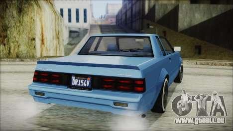 GTA 5 Willard Faction Custom IVF pour GTA San Andreas laissé vue