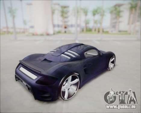 Ruf CTR 3 2015 pour GTA San Andreas sur la vue arrière gauche