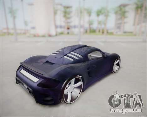 Ruf CTR 3 2015 für GTA San Andreas zurück linke Ansicht