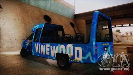 Vinewood VIP Star Tour Bus (Fixed) pour GTA San Andreas laissé vue