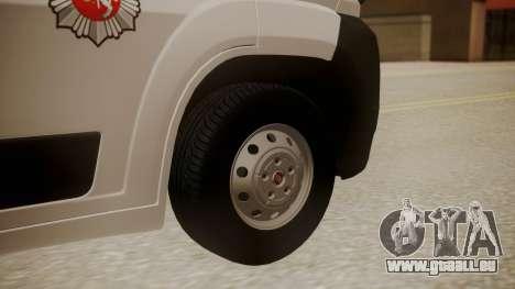 Fiat Ducato Lithuanian Police für GTA San Andreas zurück linke Ansicht