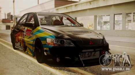 Mitsubishi Lancer Evolution Pushkar für GTA San Andreas