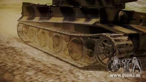 Panzerkampfwagen VI Tiger Ausf. H1 No Interior pour GTA San Andreas sur la vue arrière gauche