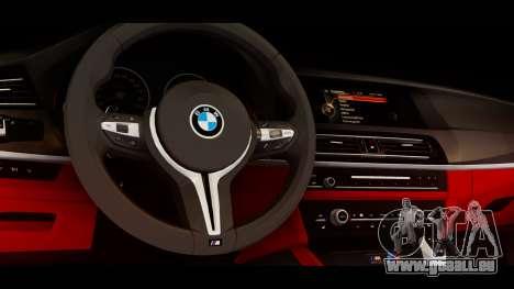 BMW M5 F10 Top Service MSK für GTA San Andreas rechten Ansicht