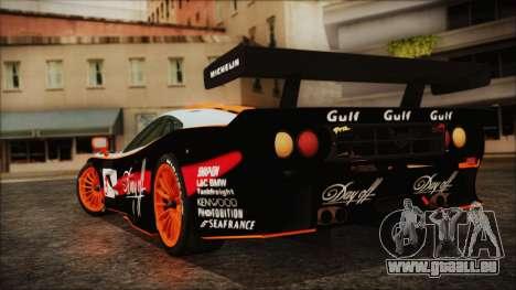 McLaren F1 GTR 1998 pour GTA San Andreas laissé vue