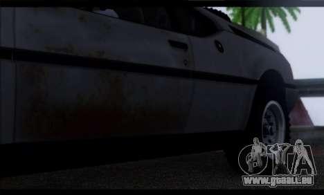 BMW M1 E26 Rusty Rebel pour GTA San Andreas vue de dessus