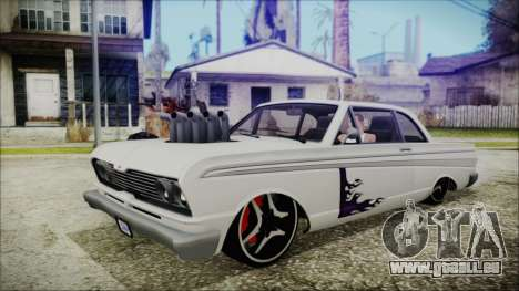Blade Custom pour GTA San Andreas sur la vue arrière gauche
