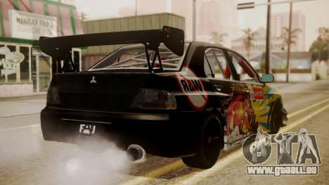 Mitsubishi Lancer Evolution Pushkar für GTA San Andreas linke Ansicht