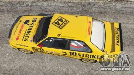 GTA 5 BMW M3 (E30) 1991 [10 strikes] v1.2 vue arrière
