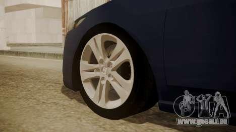 Honda Accord 2010 für GTA San Andreas zurück linke Ansicht