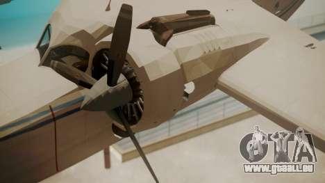 Grumman G-21 Goose WhiteBlueLines für GTA San Andreas rechten Ansicht