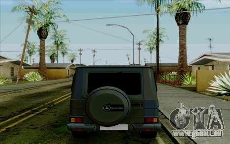 Mercedes-Benz G500 1999 pour GTA San Andreas vue arrière