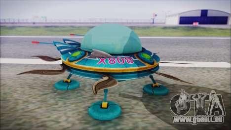 X808 UFO pour GTA San Andreas vue de droite