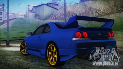 Nissan Skyline R33 Kantai Collection Kongou PJ pour GTA San Andreas laissé vue