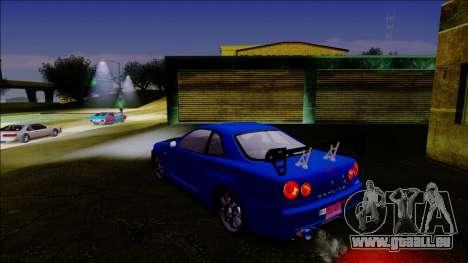 Nissan Skyline GT-R ESR Drift Tuning für GTA San Andreas zurück linke Ansicht