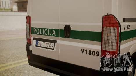Fiat Ducato Lithuanian Police für GTA San Andreas rechten Ansicht
