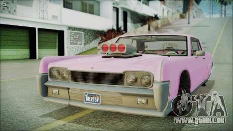 GTA 5 Vapid Chino Hydraulic Version für GTA San Andreas zurück linke Ansicht