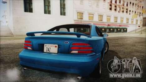Ford Mustang GT 1993 v1.1 pour GTA San Andreas laissé vue