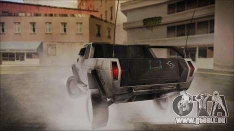 Hummer H2 C.E.L.L. Crysis 2 pour GTA San Andreas laissé vue