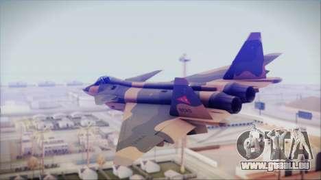 Mikoyan MIG 1.44 Flatpack Venezuelan Air Force pour GTA San Andreas laissé vue