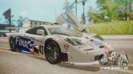 McLaren F1 GTR 1998 Team BMW pour GTA San Andreas roue