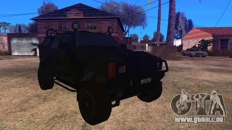 Komatsu LAV 4x4 Unarmed pour GTA San Andreas sur la vue arrière gauche