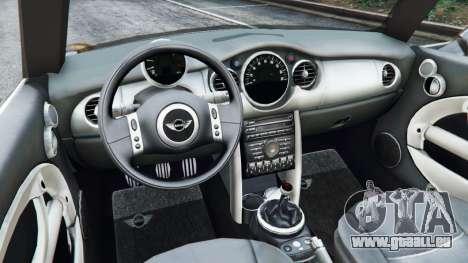 GTA 5 Mini Cooper S Convertible v0.2 arrière droit vue de côté