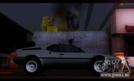 BMW M1 E26 Rusty Rebel pour GTA San Andreas laissé vue