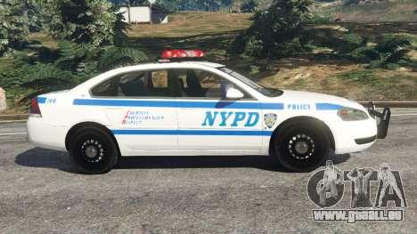 GTA 5 Chevrolet Impala NYPD linke Seitenansicht