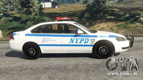 GTA 5 Chevrolet Impala NYPD vue latérale gauche