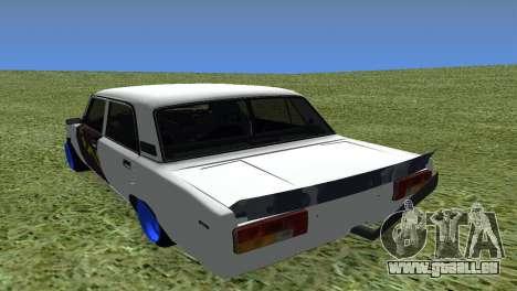 VAZ 2105 Bq Final pour GTA San Andreas sur la vue arrière gauche