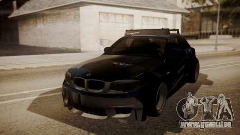 BMW 1M E82 with Sunroof pour GTA San Andreas vue de dessus