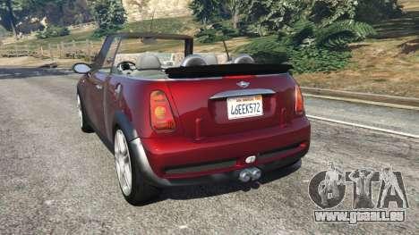 GTA 5 Mini Cooper S Convertible v0.2 arrière vue latérale gauche