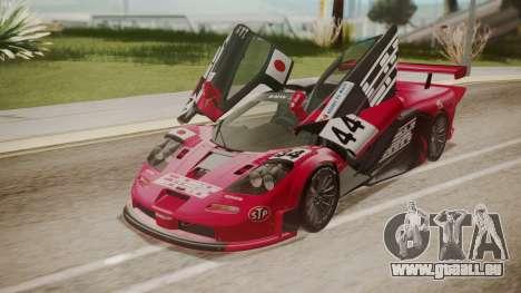 McLaren F1 GTR 1998 Team Lark pour GTA San Andreas salon
