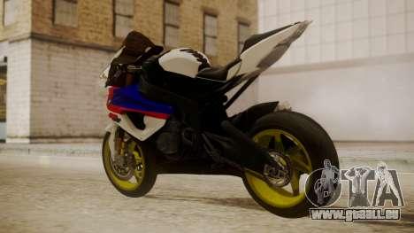 BMW S1000RR Limited pour GTA San Andreas laissé vue
