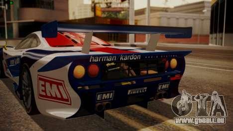 McLaren F1 GTR 1998 HarmanKardon pour GTA San Andreas vue de côté