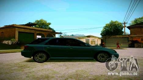 Subaru Impreza WRX STI Wagon pour GTA San Andreas sur la vue arrière gauche