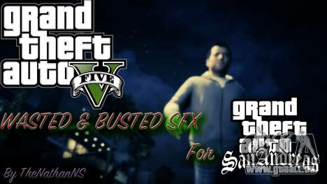 Cleo GTA 5 Wasted and Busted Sound pour GTA San Andreas