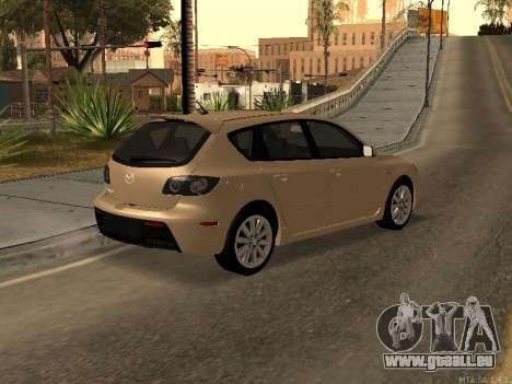 Mazda 3 MPS Tunable pour GTA San Andreas laissé vue