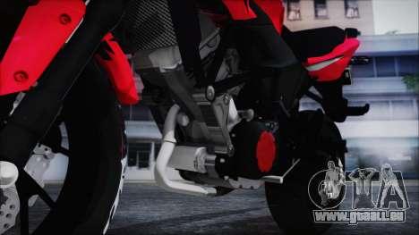 Honda CB150R Red pour GTA San Andreas vue arrière