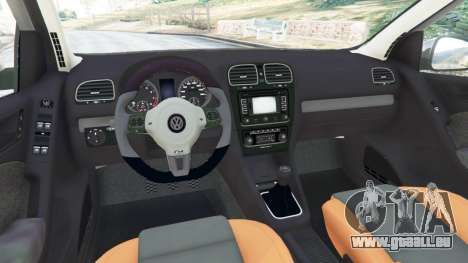 GTA 5 Volkswagen Golf Mk6 v2.0 droite vue latérale