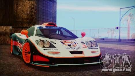 McLaren F1 GTR 1998 pour GTA San Andreas