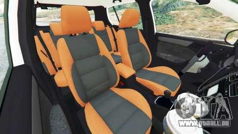 GTA 5 Volkswagen Golf Mk6 Dutch Police droite vue latérale
