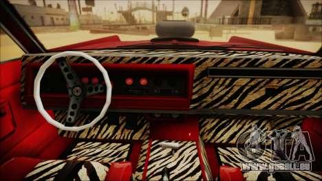 GTA 5 Vapid Chino Custom IVF pour GTA San Andreas sur la vue arrière gauche