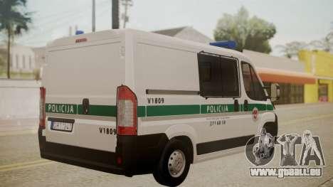 Fiat Ducato Lithuanian Police für GTA San Andreas linke Ansicht